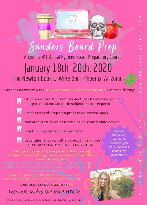 sanders board prep course flyer
