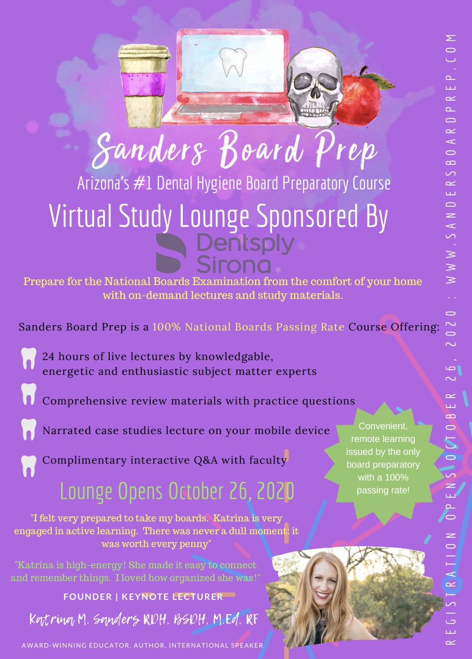 sanders board prep course flyer